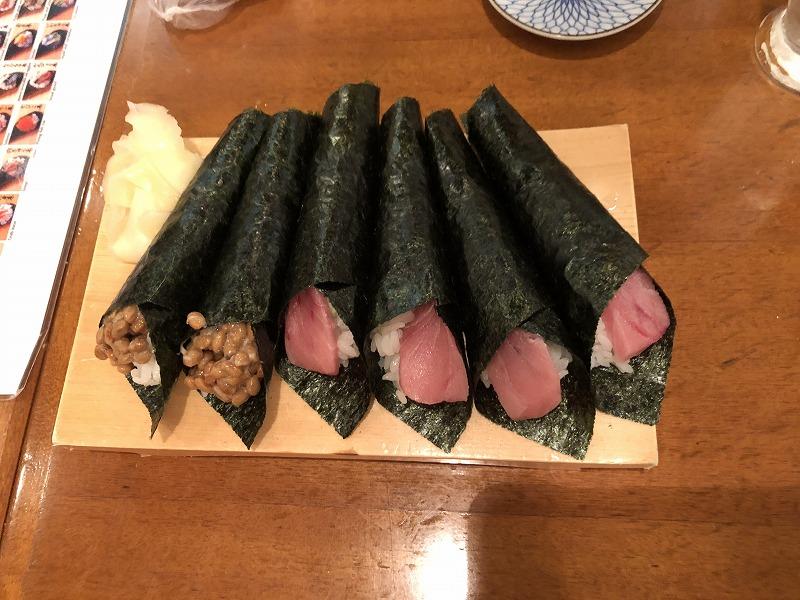 築地玉寿司 手巻き寿司の日